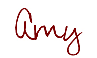 Amy first name only signature