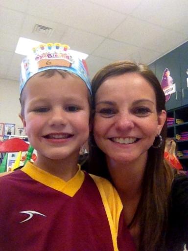 Big Kid & Momma celebrating his Sixth birthday at school.